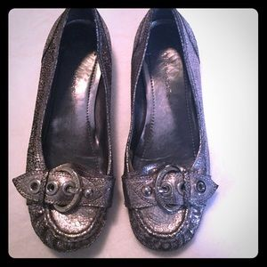 BCBG Flats in silver